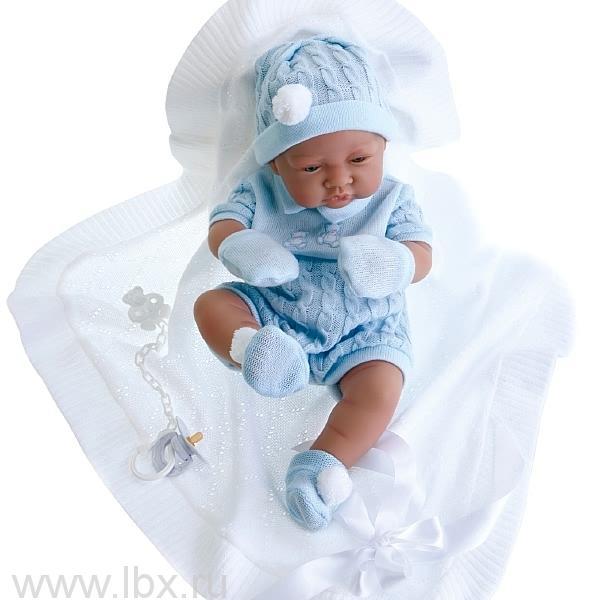 Кукла-младенец Тони, мальчик в голубом Antonio Juans Munecas (Антонио Хуан Мунекас)
