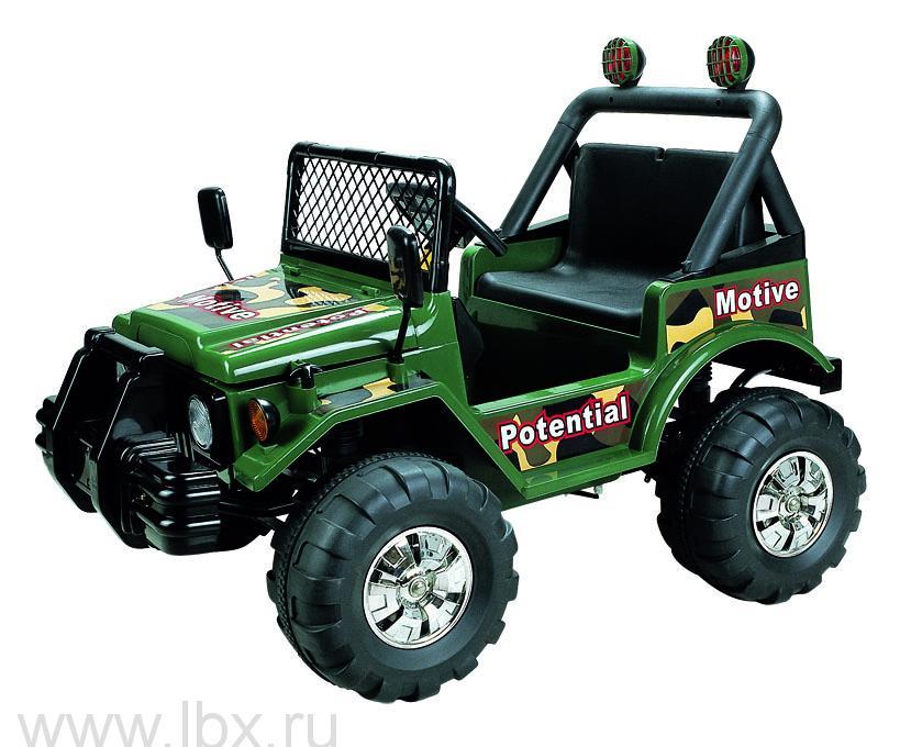 Детский электромобиль джип NeoTrike Commando 2  (Неотрайк Коммандо-2) зеленый с пультом радиоуправления