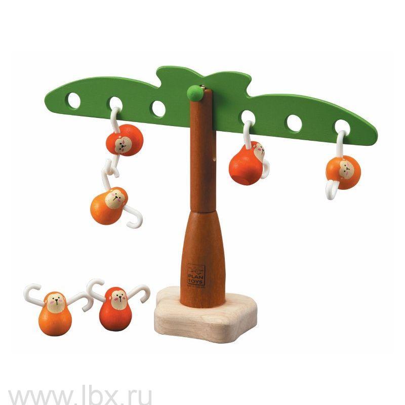 Игра `Балансирующие обезьянки` Plan Toys (План Тойз)