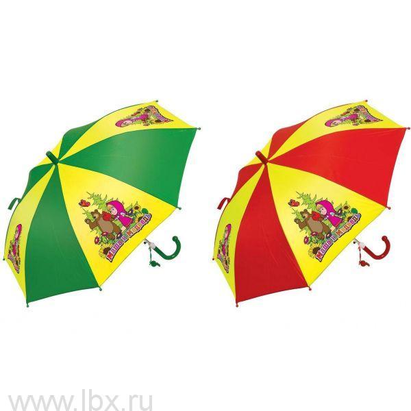 Зонт детский автоматический `Маша и Медведь` Играем вместе