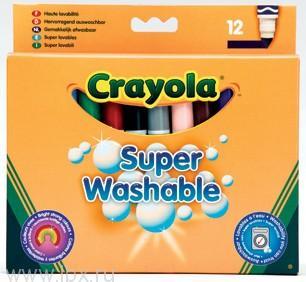 12 смываемых фломастеров Crayola (Крайола)