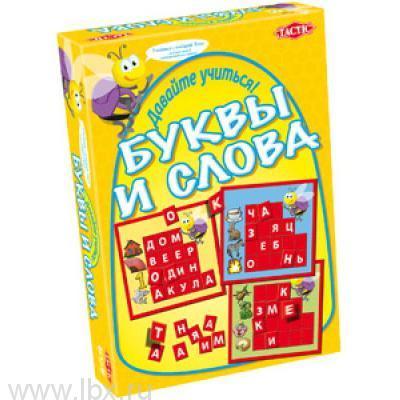 Настольная игра `Учим буквы и слова` Tactic (Тактик)