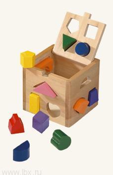 Большой развивающий куб `Геометрические формы` Bino (Бино)