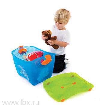 Ящик-каталка-качалка голубой Trunki (Транки)