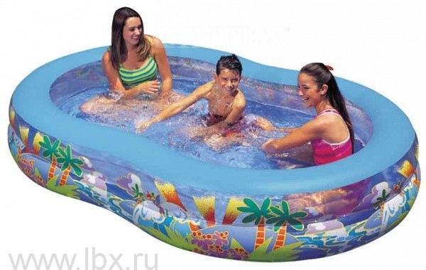 Надувной бассейн Лагуна, овальный Intex (Интекс)