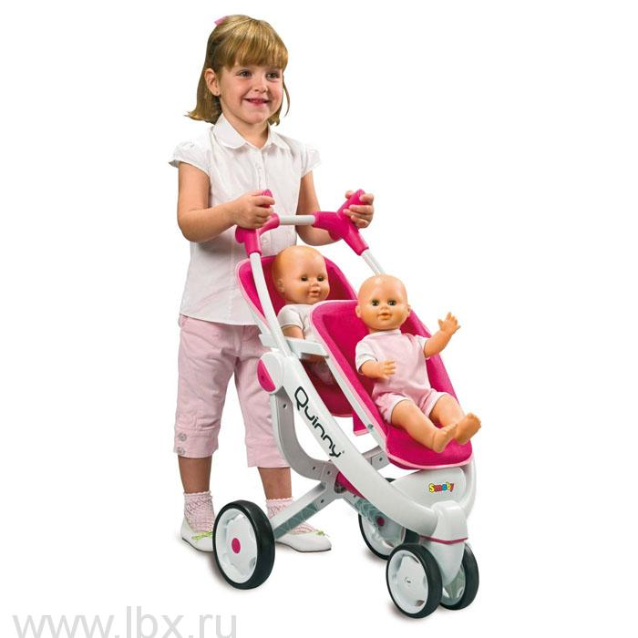 Прогулочная коляска для 2-х кукол Maxi-cosi Quinny, Smoby (Смоби)