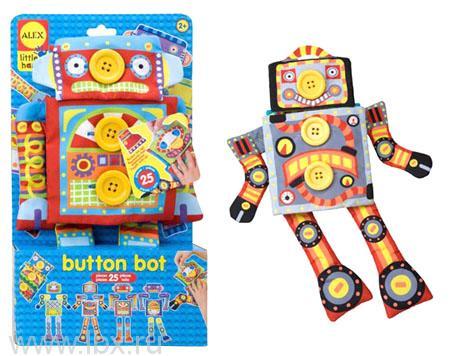 Развивающая игрушка `Робот Пуговка`, Alex (Алекс)