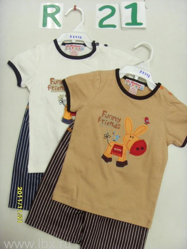 Комплект `Ослик` (футболка и шорты) Олдос