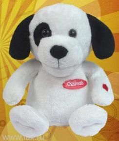 Щенок Puppy Da Di Doo - повторюшка, белый с черными пятнами, Chatimals