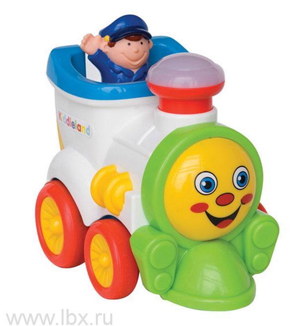 Развивающая игрушка `Забавный паровозик` Kiddieland (Киддилэнд)