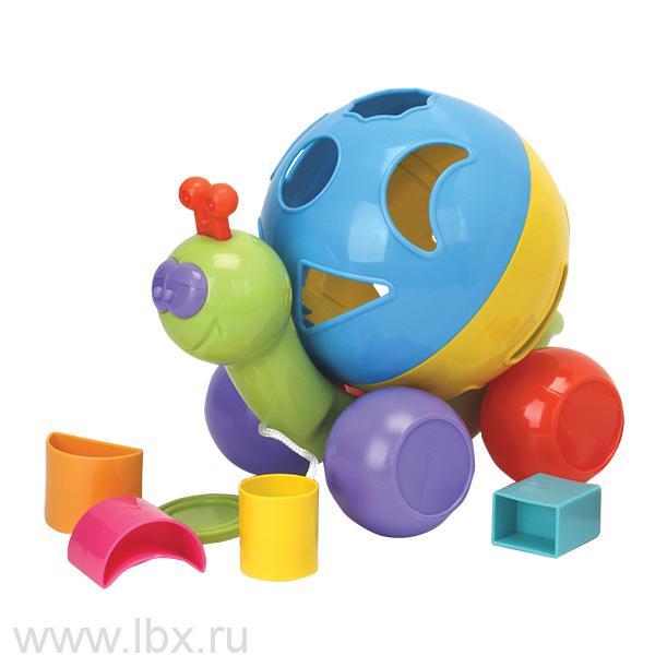 Игрушка-сортер `Улитка`, Играем вместе