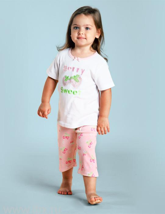 Пижама для девочки, коллекция `Клубничка`, Модамини