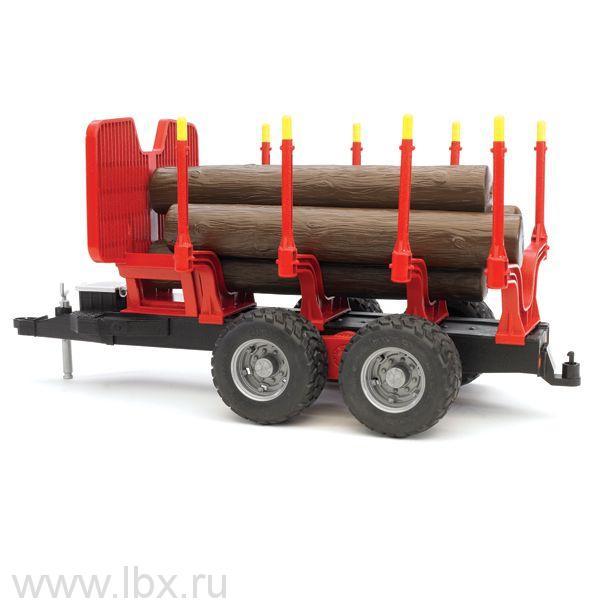 Прицеп для перевозки леса с брёвнами, Bruder (Брудер)