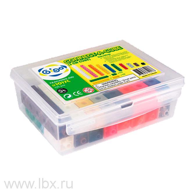 Конструктор `Занимательные кубики` 1017C Connect-a-cube, `Gigo` (`Гиго`)