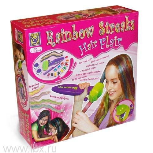 Набор для украшения волос `Радуга в твоих волосах`, Creative