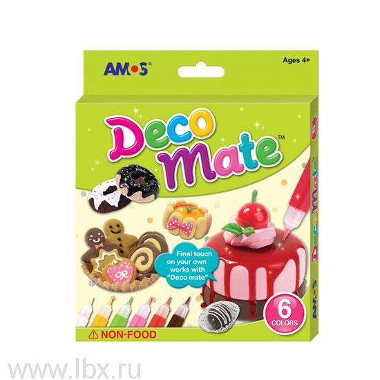 Набор витражных красок для украшения поделок из массы для лепки, Amos (Амос)