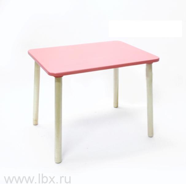 Стол большой розовый, РусЭкоМебель