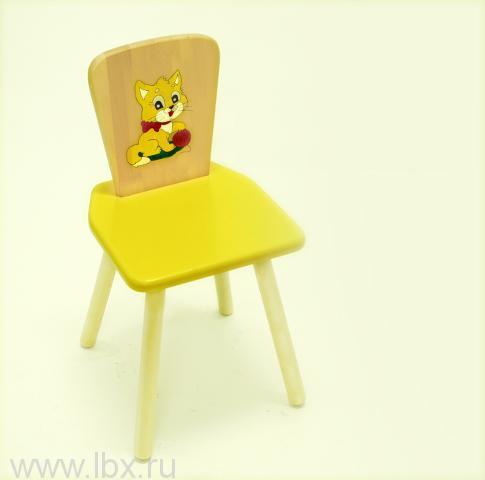 Стул квадратный желтый, РусЭкоМебель