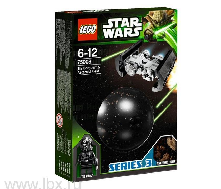 Имперский TIE бомбардировщик и поле астероидов Lego Star Wars (Лего Звездные войны)
