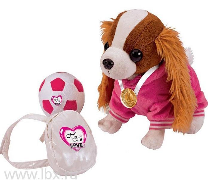 Плюшевая собачка кокер-спаниель - звезда спорта, Chi Chi Love (Чи Чи Лав)